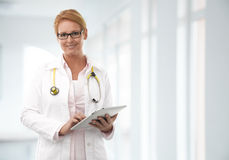 Female Doctor At The Hospital Stock Images