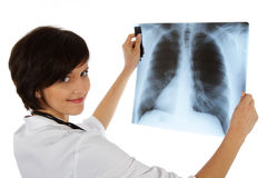 Female doctor. Human Body X-Ray Royalty Free Stock Image