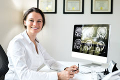 Free Female Doctor In Office Royalty Free Stock Photos - 45656938