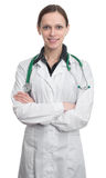 Female doctor isolated stock images
