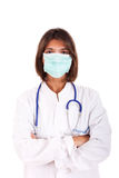 Female doctor with a mask Stock Images