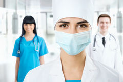 Female doctor in a mask Royalty Free Stock Photography