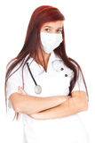 Female doctor in medical mask Royalty Free Stock Image