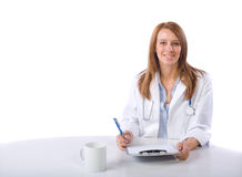 Female doctor in a modern office Royalty Free Stock Photo