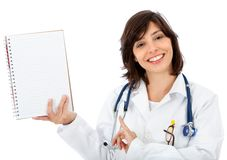 Female doctor with notebook Stock Image