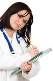 Female doctor with notebook Stock Photography