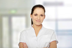 Female doctor or nurse Royalty Free Stock Image