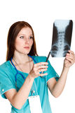 Female doctor or nurse Royalty Free Stock Images