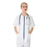 Female doctor or nurse Stock Image