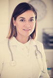 Female doctor offering help Stock Photography