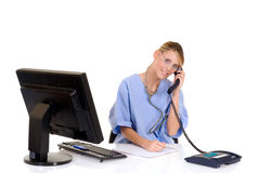 Female doctor in office Stock Photos