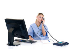 Female doctor in office Stock Image