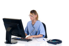 Female doctor in office Stock Photography