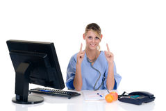 Female doctor in office Stock Photo