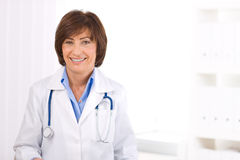 Female doctor at office Royalty Free Stock Photos