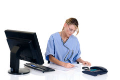 Female doctor in office Royalty Free Stock Image