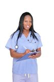 Female doctor over white Stock Photo