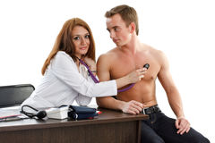 Female doctor and the patient Royalty Free Stock Image
