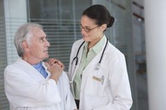 Female doctor and patient Stock Image