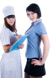 Female doctor and patient Stock Photo