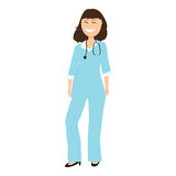 Female doctor pediatrician in hospital Stock Image