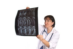 Female doctor and physician Stock Image