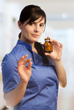 Female doctor with pills Stock Photos