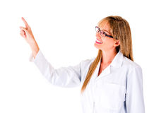 Female doctor pointing Royalty Free Stock Photos