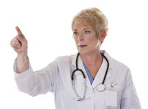 Female doctor pointing Royalty Free Stock Photography