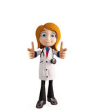 Female doctor with pointing pose Stock Images