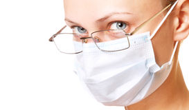 Female doctor portrait in mask Stock Photo