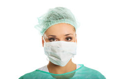 Female doctor in protective mask Stock Photography