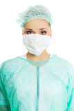 Female doctor in protective mask Stock Photos