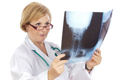 Female doctor radiologist Royalty Free Stock Photography