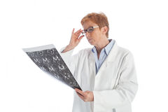 Female doctor of radiology 2 royalty free stock photo