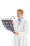 Female doctor of radiology 1 stock image