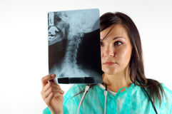 Female doctor with x-ray #7 Royalty Free Stock Photography