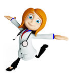 Female Doctor with running pose Stock Photos