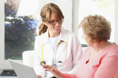 Female doctor with senior patient Stock Photography