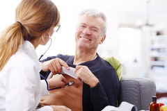 Female doctor and senior patient Royalty Free Stock Image