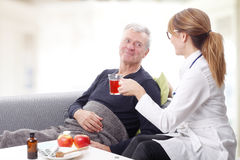 Female doctor and senior patient Royalty Free Stock Images