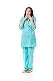 Female doctor shocked Stock Photos