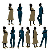 Female Doctor Silhouette Royalty Free Stock Photography