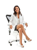 Female doctor sitting Stock Images
