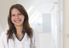 Female doctor smiling Royalty Free Stock Photos