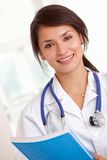 Female doctor smiling Royalty Free Stock Images