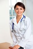 Female doctor smiling Royalty Free Stock Photo
