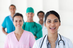 Female doctor smiling at the camera Stock Photos