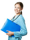 Female doctor smiling Royalty Free Stock Image