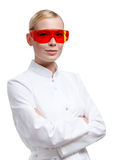 Female doctor in spectacles Royalty Free Stock Image